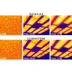 Thermal images of the ceiling with each type of insulation